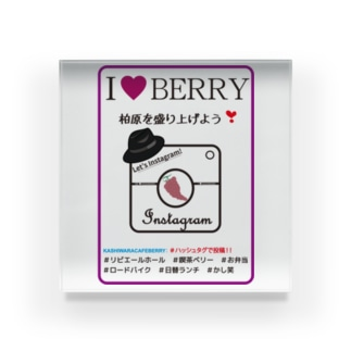 I LOVE CAFE BERRY - INSTAGRAM Acrylic Block