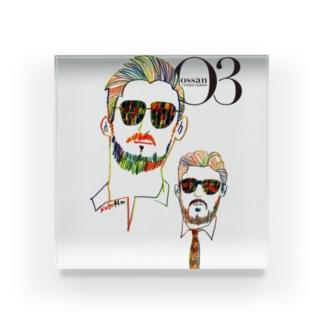 O3 オッサン ロゴヴァージョン アクリルブロック