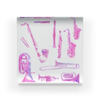 gakki-pink Acrylic Block