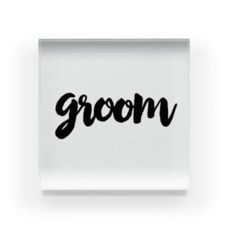 Groom Acrylic Block