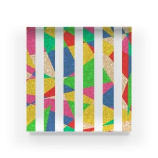 ストライプ Acrylic Block