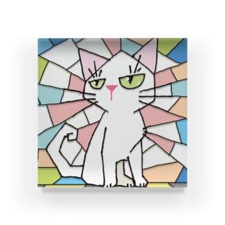 にゃんこ Acrylic Block
