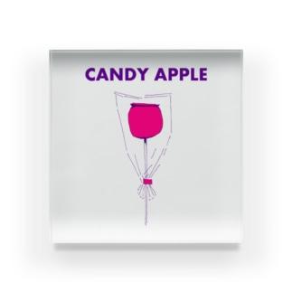 祭りデザイン「りんご飴」 アクリルブロック