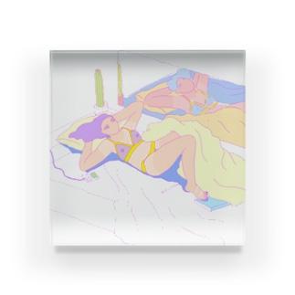 夏、部屋で Acrylic Block