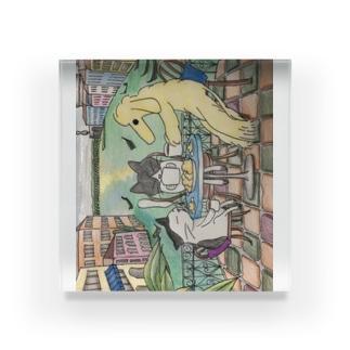 ねこのしっぽのベネツィアンアフターヌーンティー Acrylic Block