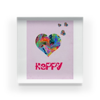 Happy Acrylic Block