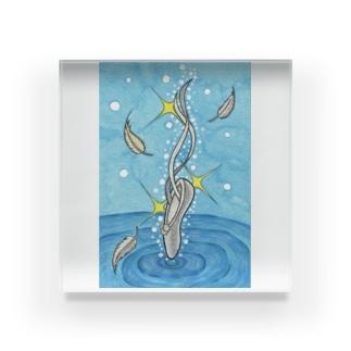 「白鳥の湖」 アクリルブロック