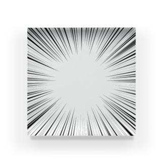 集中線 Acrylic Block