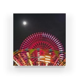 満月と遊園地 Acrylic Block