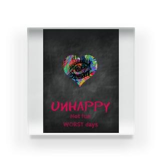 Unhappy Acrylic Block