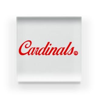 Cardinals【RED】 Acrylic Block