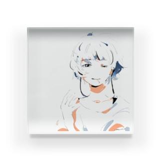 タバコ女の子 Acrylic Block