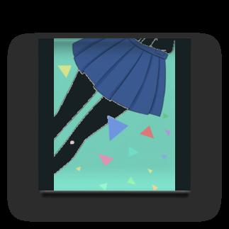 piorのスカート(エメラルド) Acrylic Block