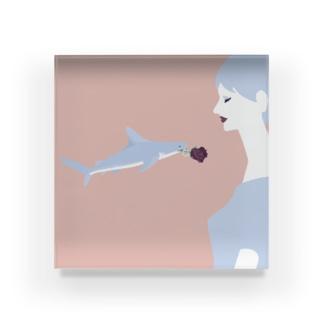 サメのプロポーズ Acrylic Block