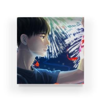 金魚と花火 Acrylic Block