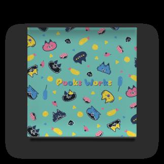 995(キュウキュウゴ)の猫柄PooksWorks Acrylic Block