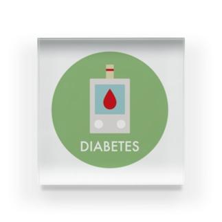血糖値チェック! アクリルブロック