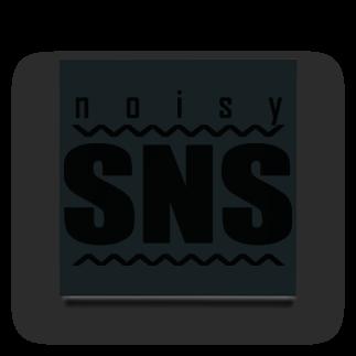 8garage SUZURI SHOPのnoisy SNS [Black] アクリルブロック