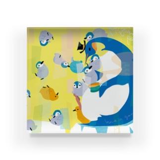 親子ペンギンTeaParty Acrylic Block
