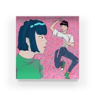 愛 don't 脳 Acrylic Block