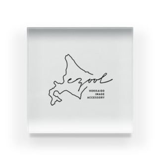 ezoolロゴ Acrylic Block