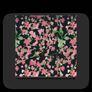 Tom's Factoryの水彩花柄[可愛い 女子向け] Acrylic Block