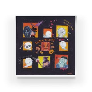 halloween cube house Acrylic Block