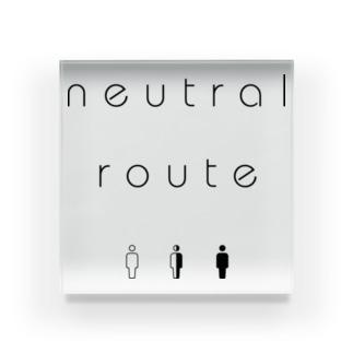 neutral route [Black] Acrylic Block