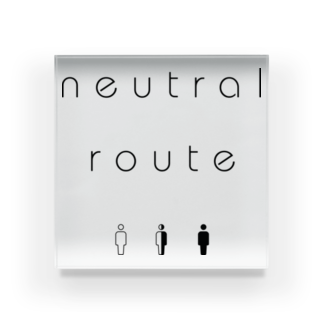 8garage SUZURI SHOPのneutral route [Black] アクリルブロック