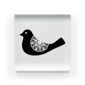 Doily Bird Acrylic Block