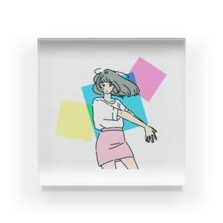 ミニスカポップ Acrylic Block