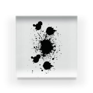 墨汁がぺっちゃっ! Acrylic Block