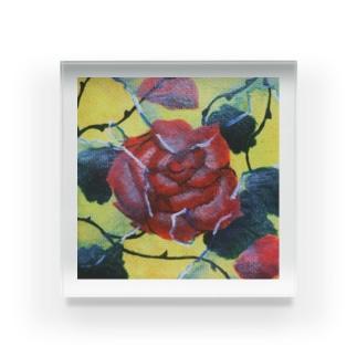 ガラスと薔薇 Acrylic Block