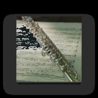 y.shioriのフルートと楽譜 Acrylic Block