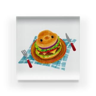 ネップくんハンバーガー Acrylic Block