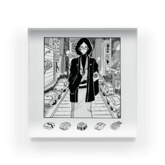 ニューヨークで寿司が食べたい人 Acrylic Block