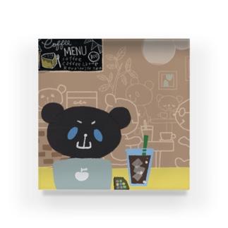 ブラックおやまくまとカフェ アクリルブロック