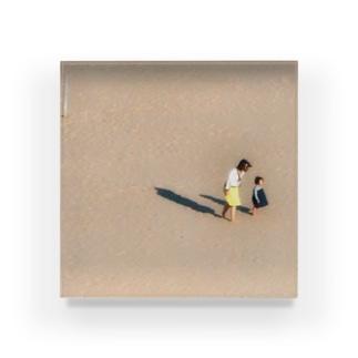 作品「砂丘A」 Acrylic Block