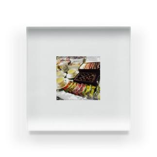 お茶会 Acrylic Block