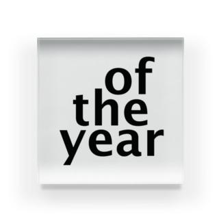 of the year Acrylic Block