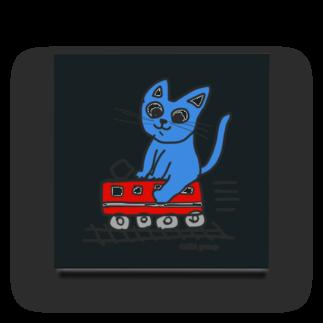 Official GOODS Shopの赤電のりてつニャーンコ Acrylic Block