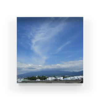 富士山と雲 Acrylic Block