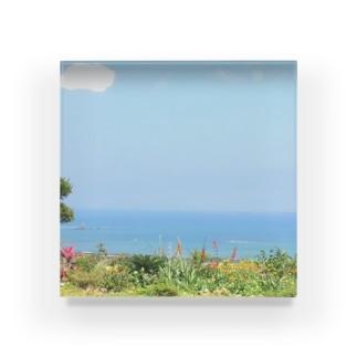 沖縄の海 Acrylic Block