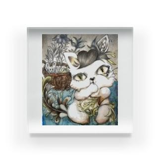 不思議な子猫 Acrylic Block