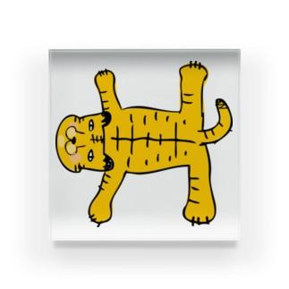 おまぬけなトラさん Acrylic Block
