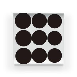 ふぞろいなdot Acrylic Block
