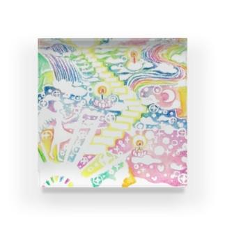 絵描き-國重 奈穂-1 Acrylic Block