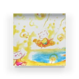 絵描き-國重 奈穂-2 Acrylic Block