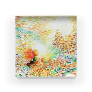 絵描き-國重 奈穂-3 Acrylic Block