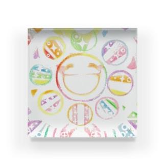絵描き-國重 奈穂-4 Acrylic Block